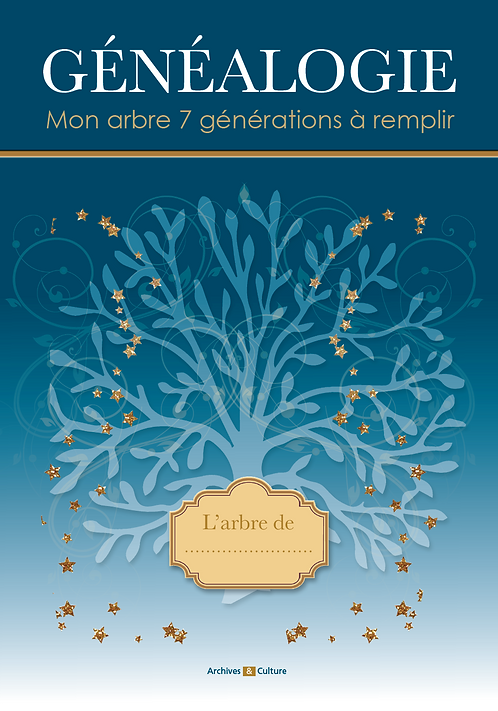 Mon arbre relié 7 générations à remplir