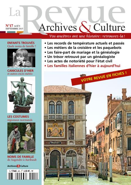 Revue Archives & Culture n° 17