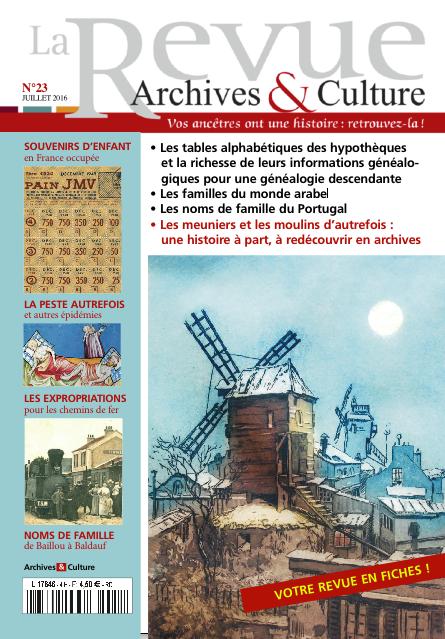 Revue Archives & Culture n° 23