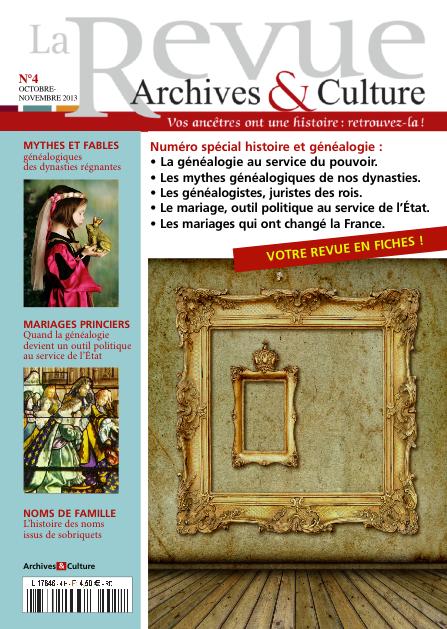 Revue Archives & Culture n° 4