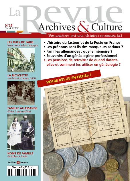 Revue Archives & Culture n° 15