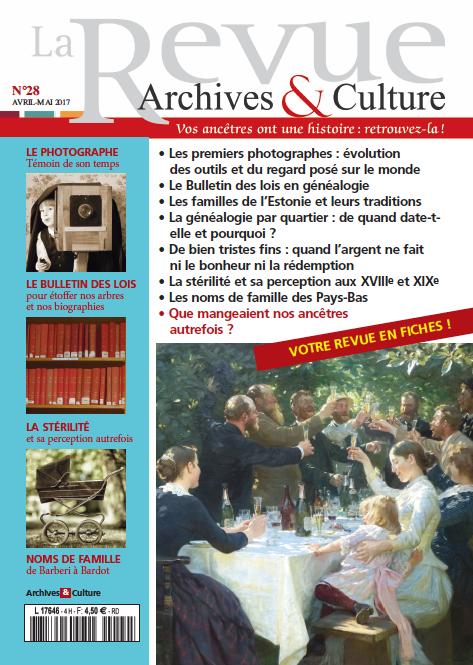 Revue Archives & Culture n° 28