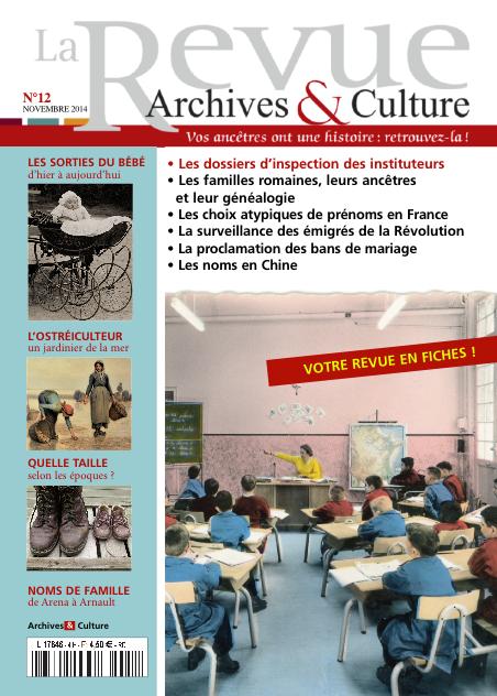 Revue Archives & Culture n° 12