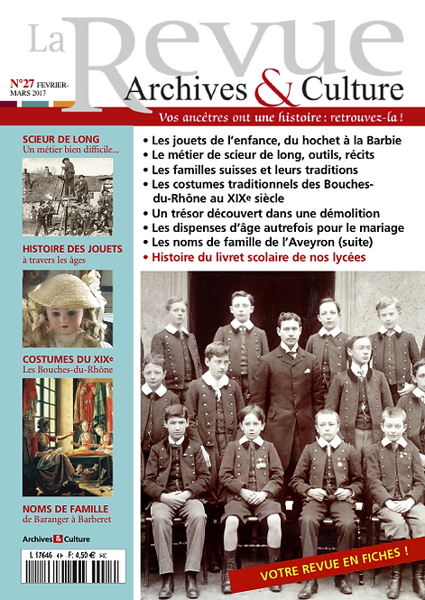Revue Archives & Culture n° 27