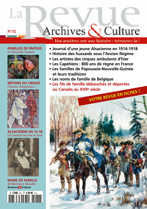 Revue Archives & Culture n° 32