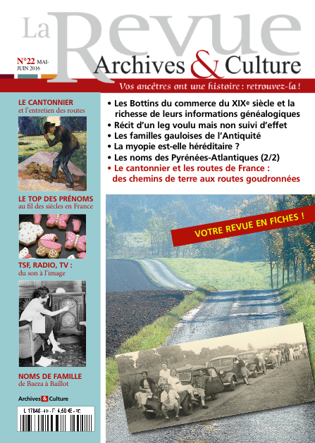 Revue Archives & Culture n° 22