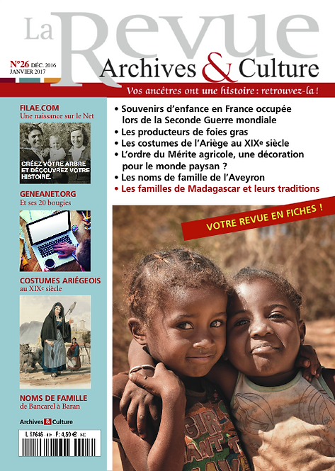 Revue Archives & Culture n° 26