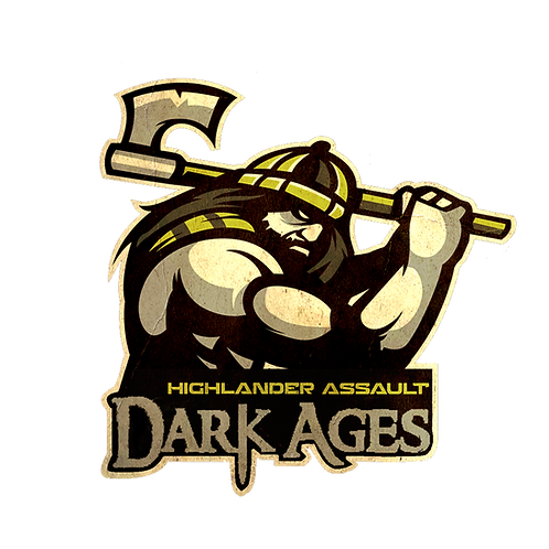 """3"""" by 3"""" Dark Ages Night Race Vinyl Car Decal"""