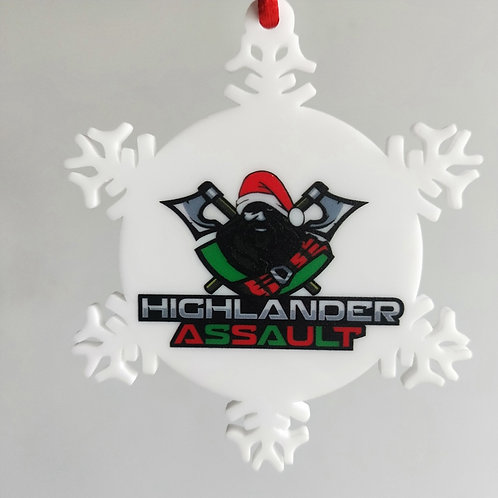 Highlander Assault Christmas Ornament 3 Pack