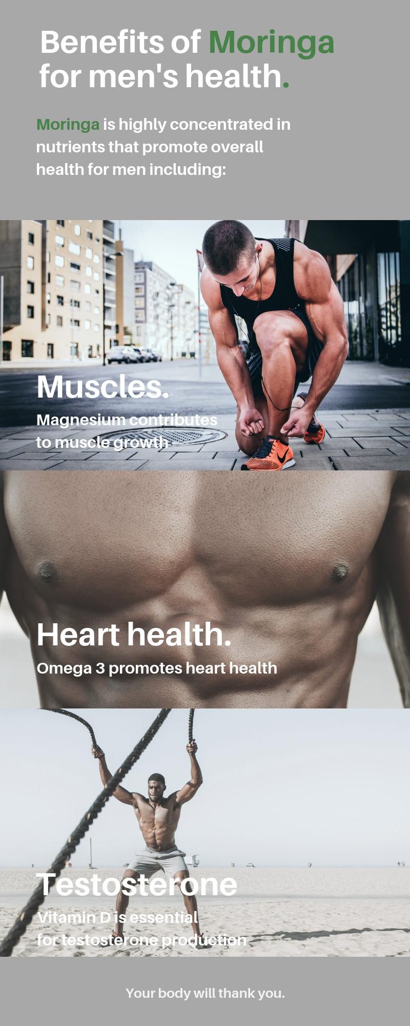 Benefits of Moringa for men's health