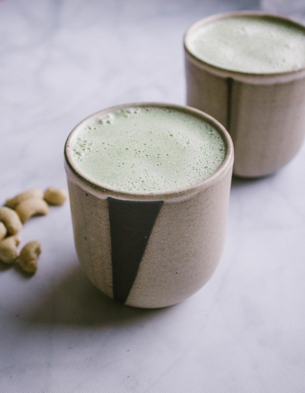 Bedtime Ashwaghanda-Moringa Cashew Butter Latte