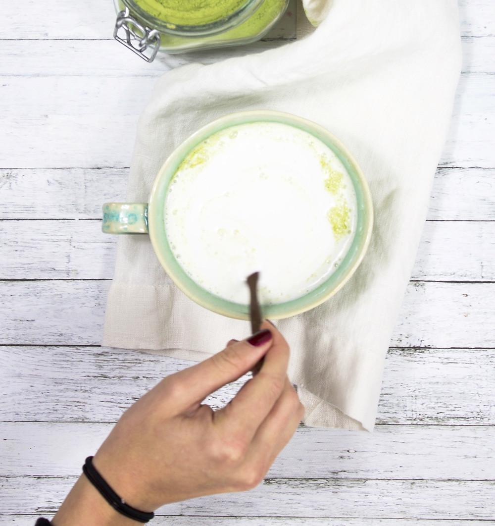 Coconut Moringa Latte