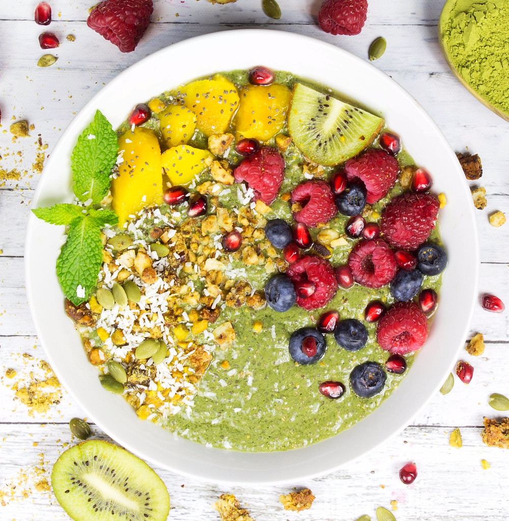 Moringa Chia Pudding with Fruit