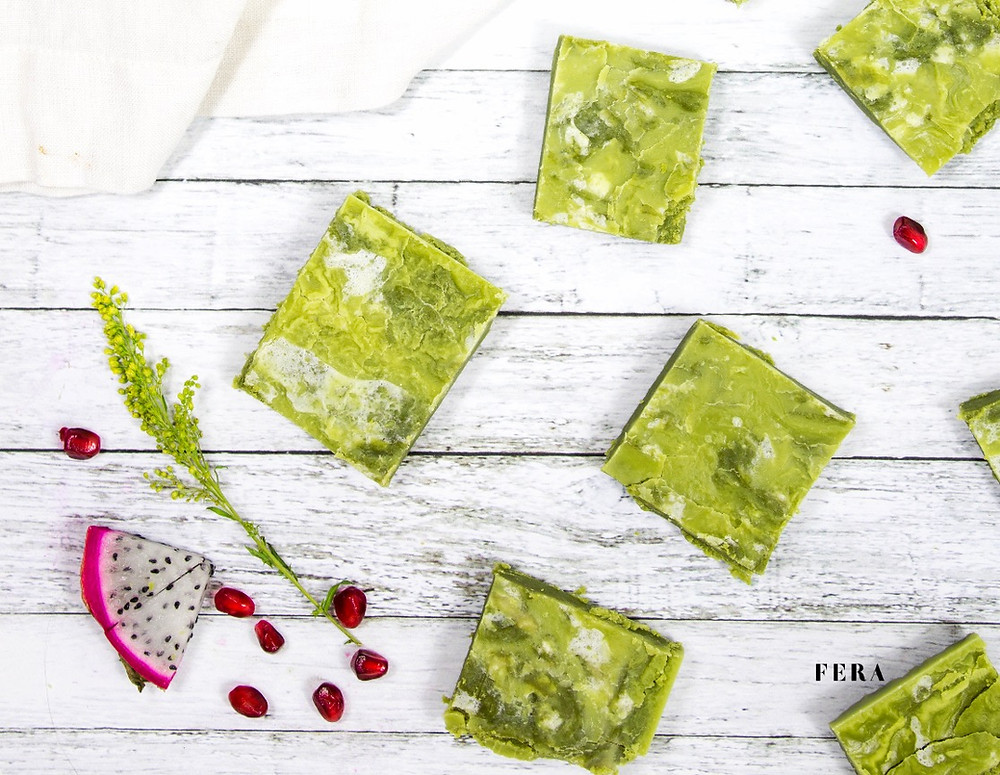 Marbled Moringa Fudge Brownies