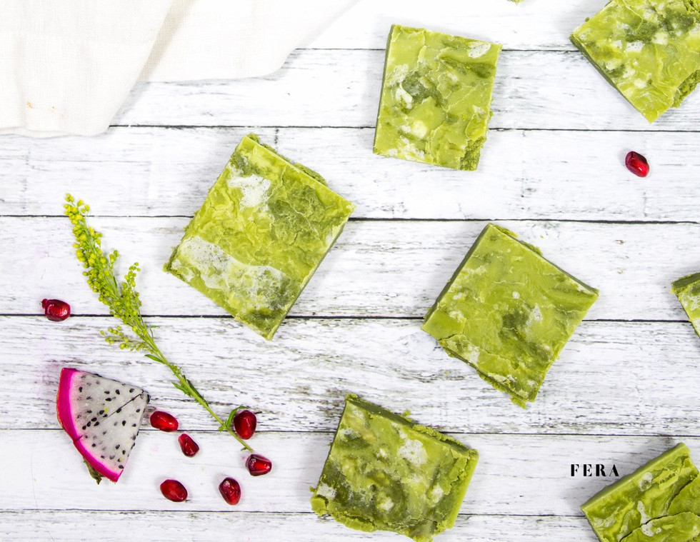 Marbled Moringa Fudge