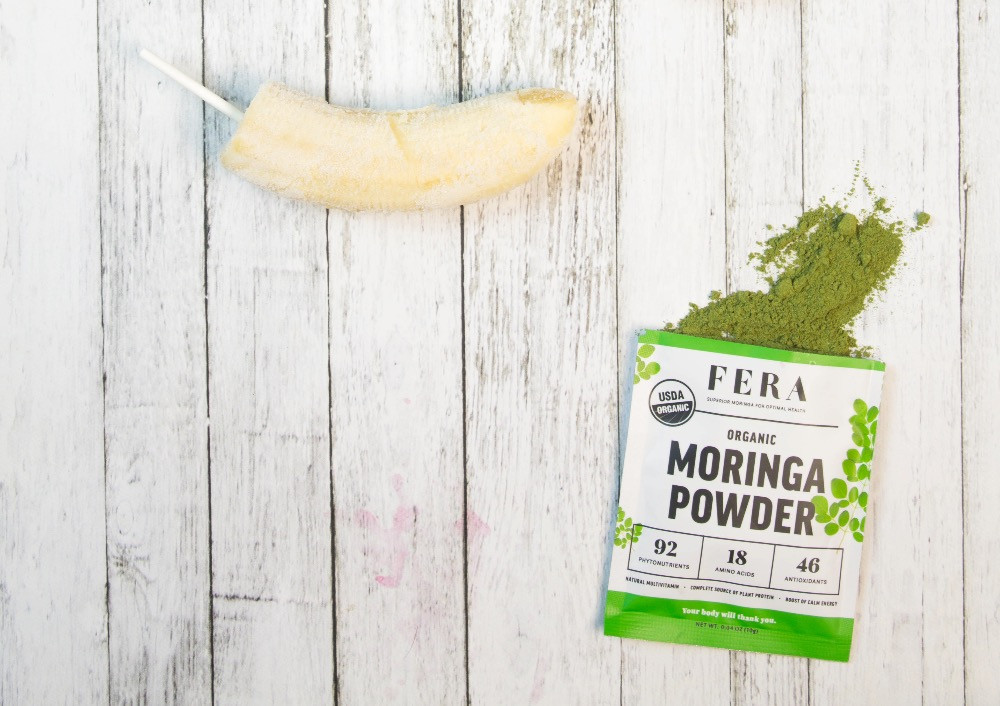 Moringa Covered Banana Pops