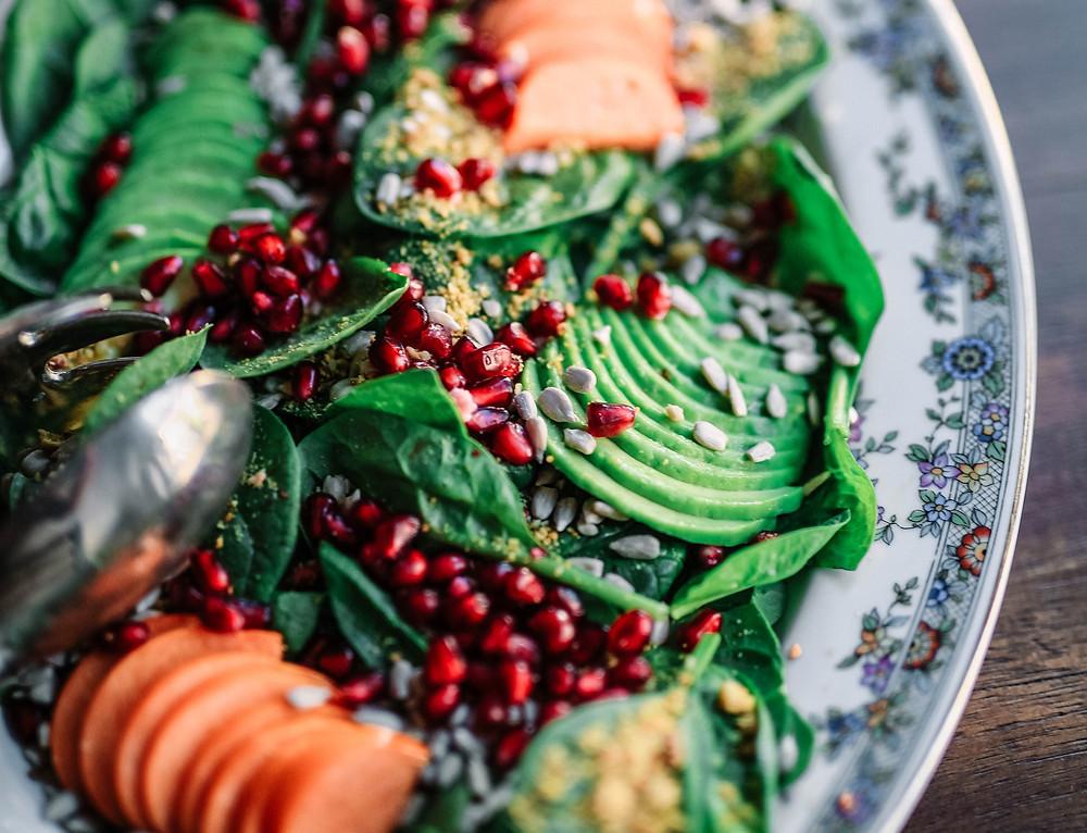 Chlorophyll rich salad