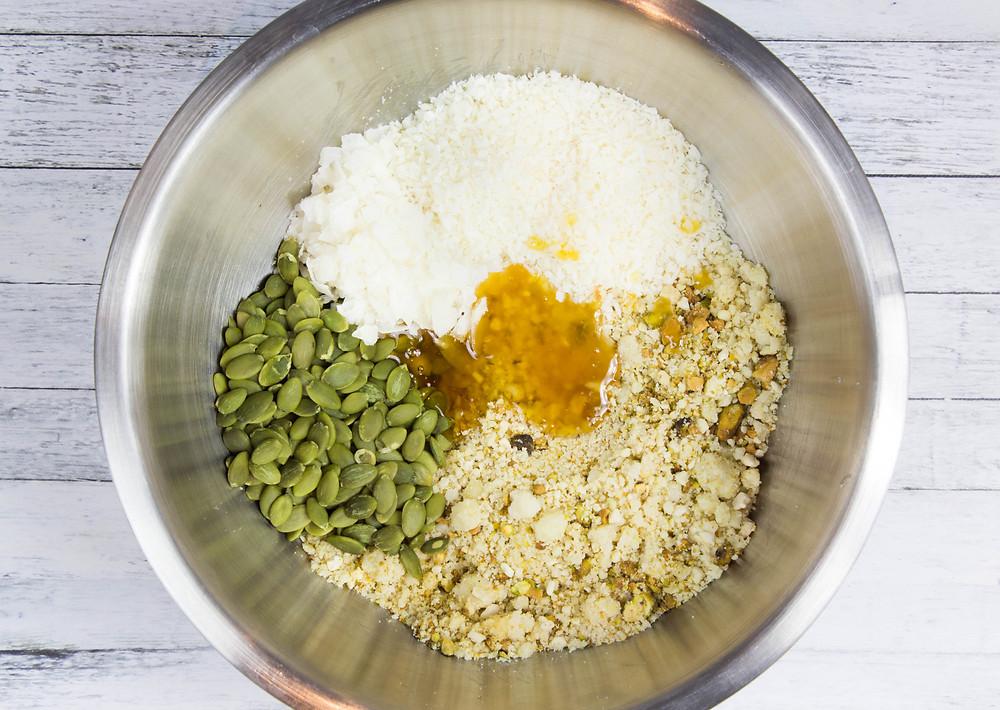 Grain free moringa granola ingredients