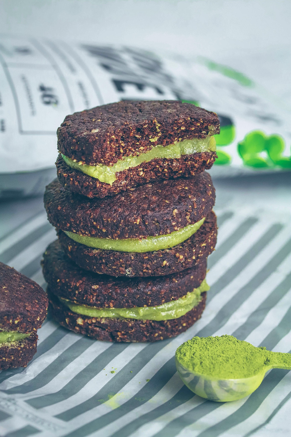MINT MORINGA OREOS (VEGAN & GLUTEN-FREE) Stacked with FERA