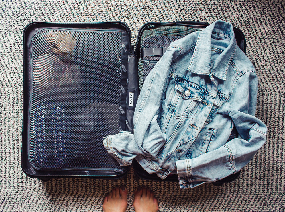 Away carry on travel suitcase