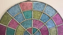 Coloured Semi-Circle Window