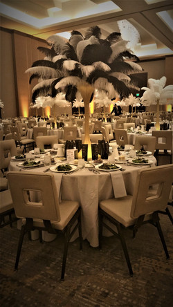 Feather.centerpieces