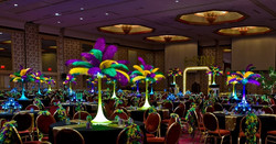 Mardi Gras Feather Centerpieces