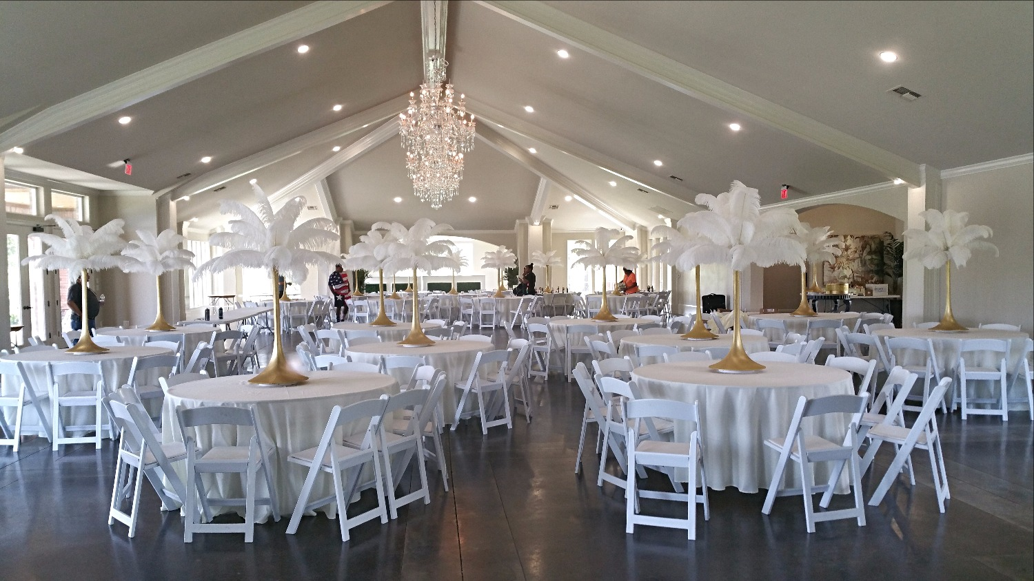 Feather Centerpieces Rental