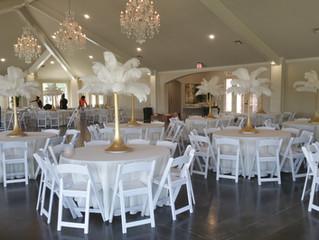 Feather Wedding Ideas - Great Gatsby