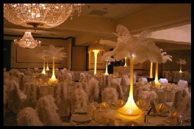 Wedding Centerpieces Feathers