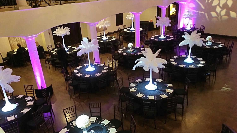 White Ostrich Feather Wedding Rental