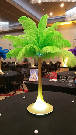 Rent Lime Green Feather Centerpiece