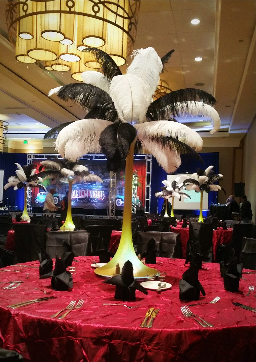 Great Gatsby Party Ostrich Feathers, by DesignerCenterpieces.com