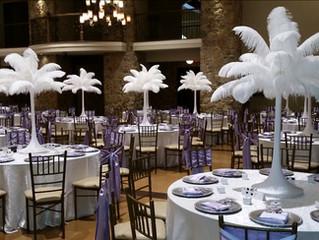 DIY Rent Elegant Ostrich Feather Centerpieces - Houston, Austin, Dallas,  Ft. Worth,  wedding center