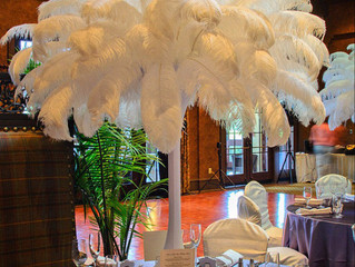 About Ostrich Feathers - Houston, Dallas, Ft. Worth, Austin, Galveston TX - USA, wedding centerpiece