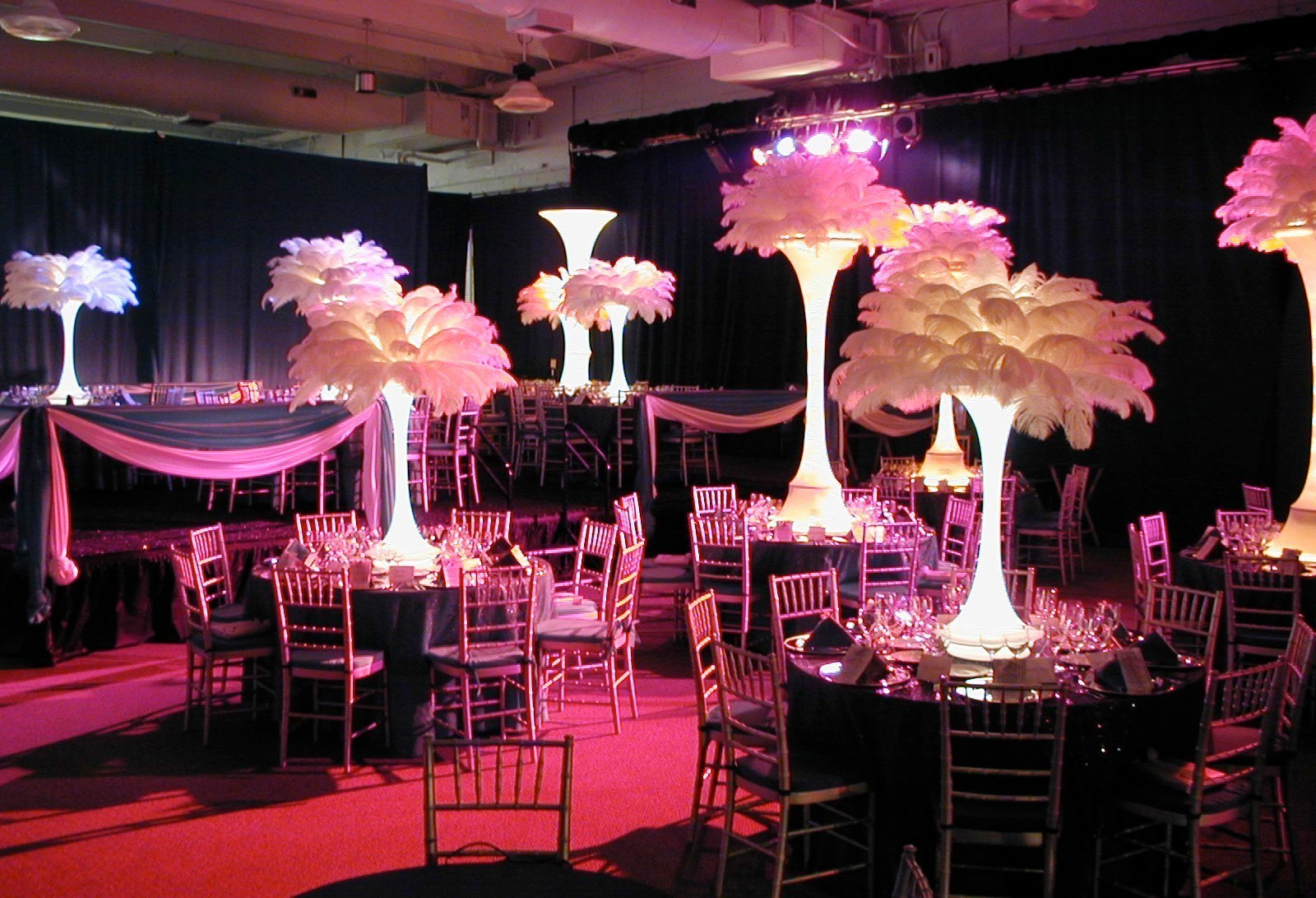 White Feather Centerpieces Rent