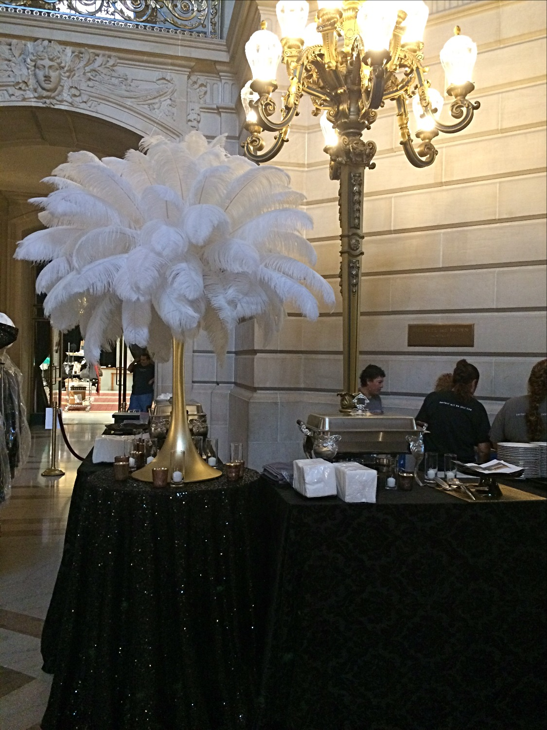 Ostrich Feather Centerpiece Rentals