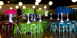 Birthday Party Feather Centerpieces