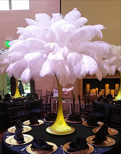 Wedding with Ostrich Feathers