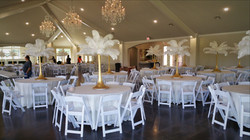 White Feathers Centerpieces