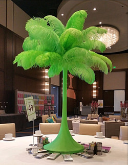 Lime Green Feather Centerpiece