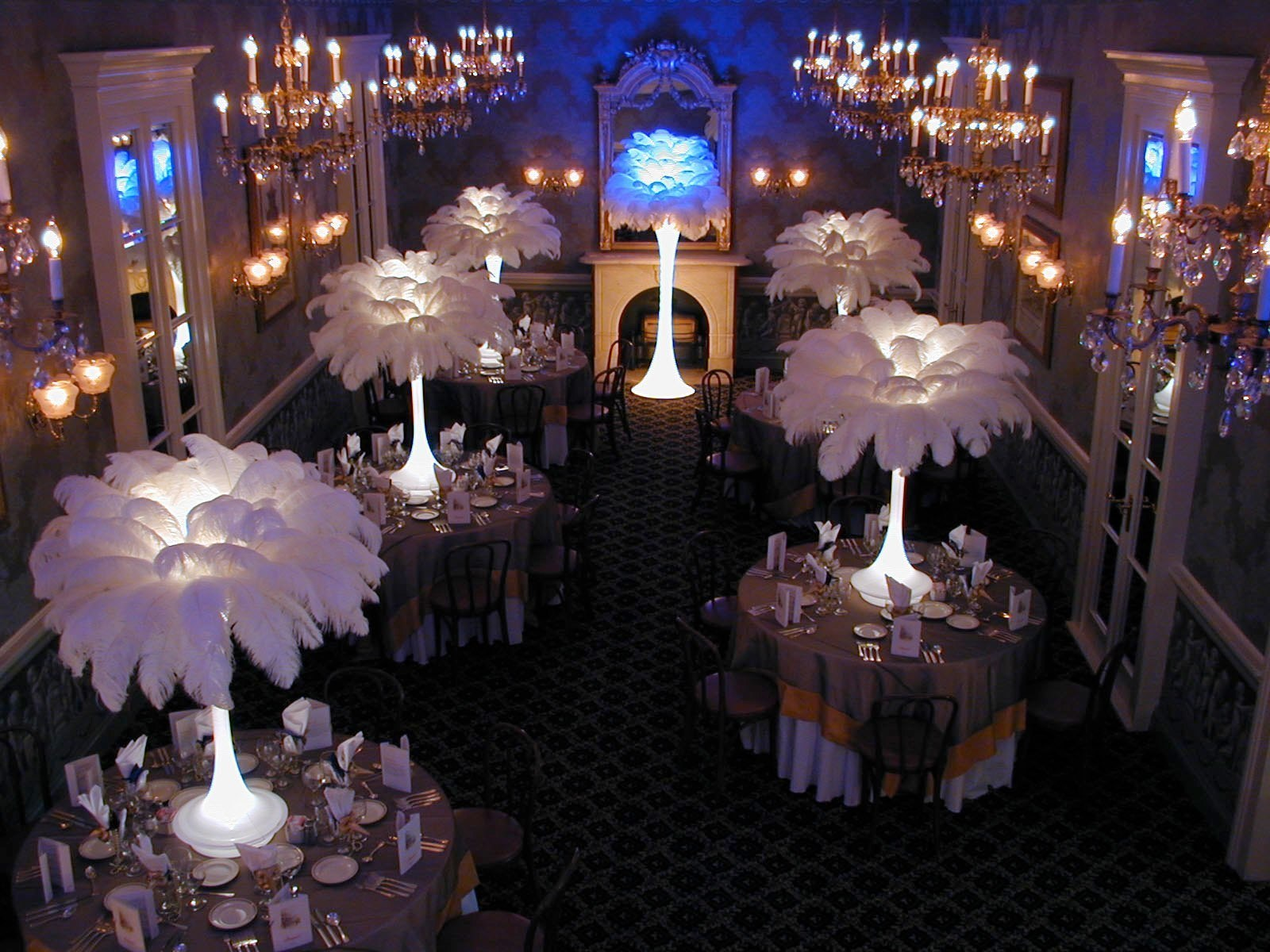 White Ostrich Feathers Event