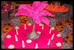 Ostrich Feather Centerpiece $59