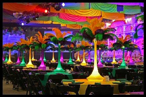 Mardi Gras  Feather Centerpieces