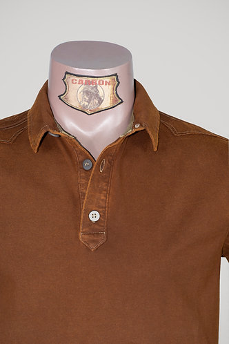 CARBON Falcon Button Collar Shirt - Dark Amber