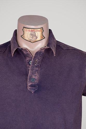 CARBON Falcon Button Collar Shirt - Cedar Purple