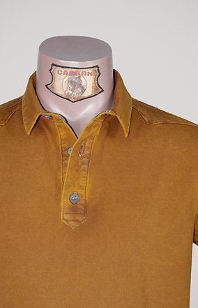 The Classic Button Collar Shirt - in Amber Orange