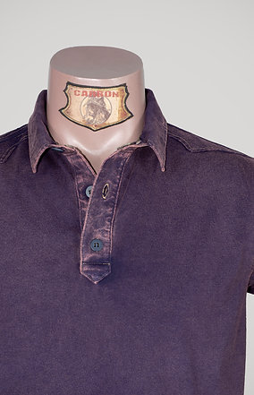 The Classic Button Collar Shirt - in Stone Purple
