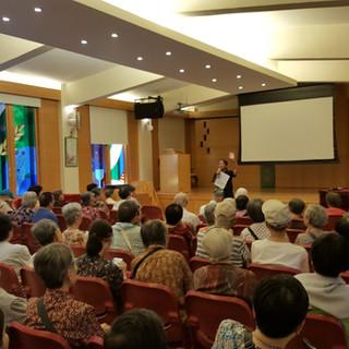 Speaking at Asbury Methodist Social Service Eldery Center (27/7/16)