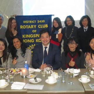 Speaking at Kingspark Rotary Club (16/1/17)